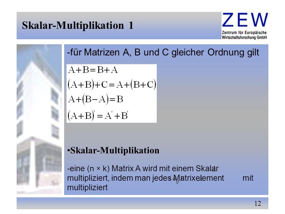 Skalar-Multiplikation 1