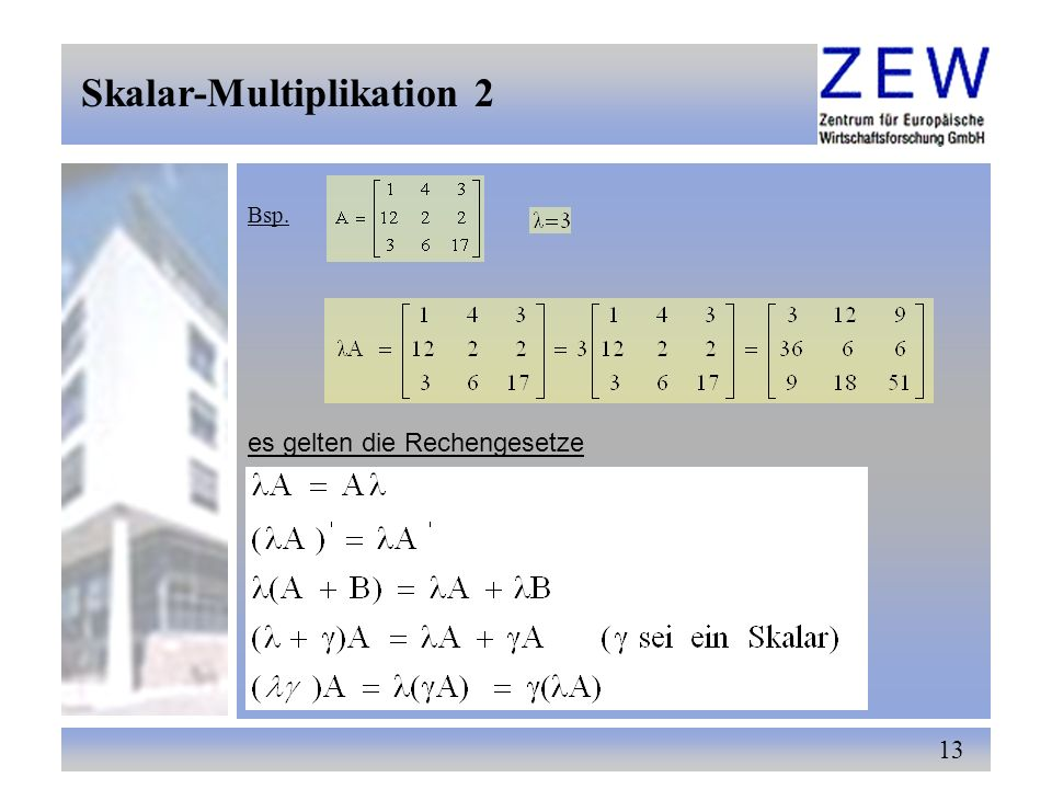 Skalar-Multiplikation 2