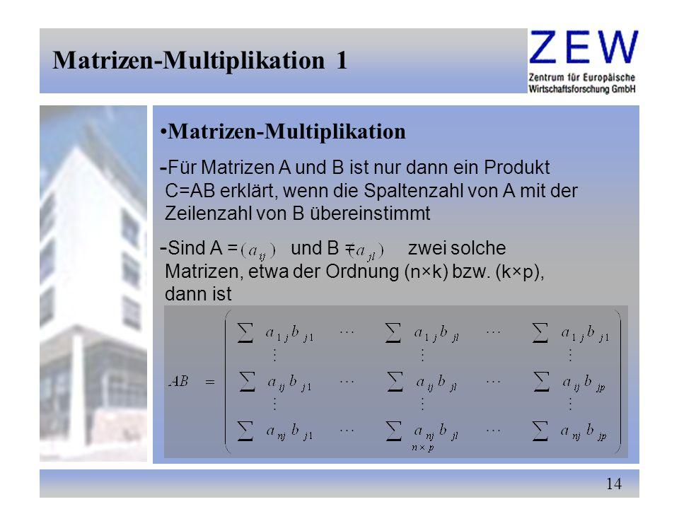 Matrizen-Multiplikation 1