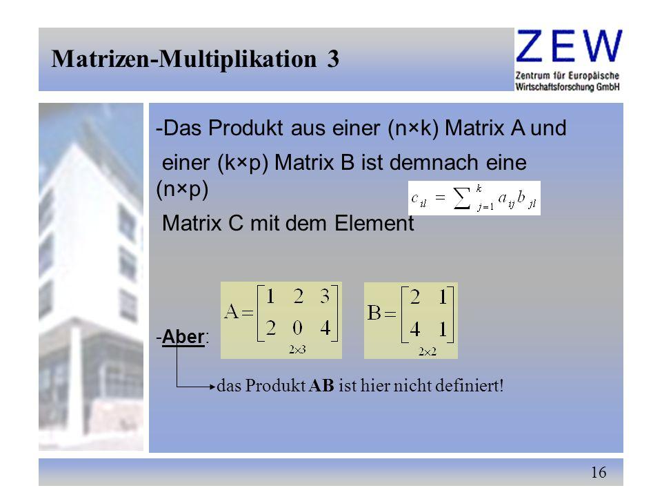 Matrizen-Multiplikation 3