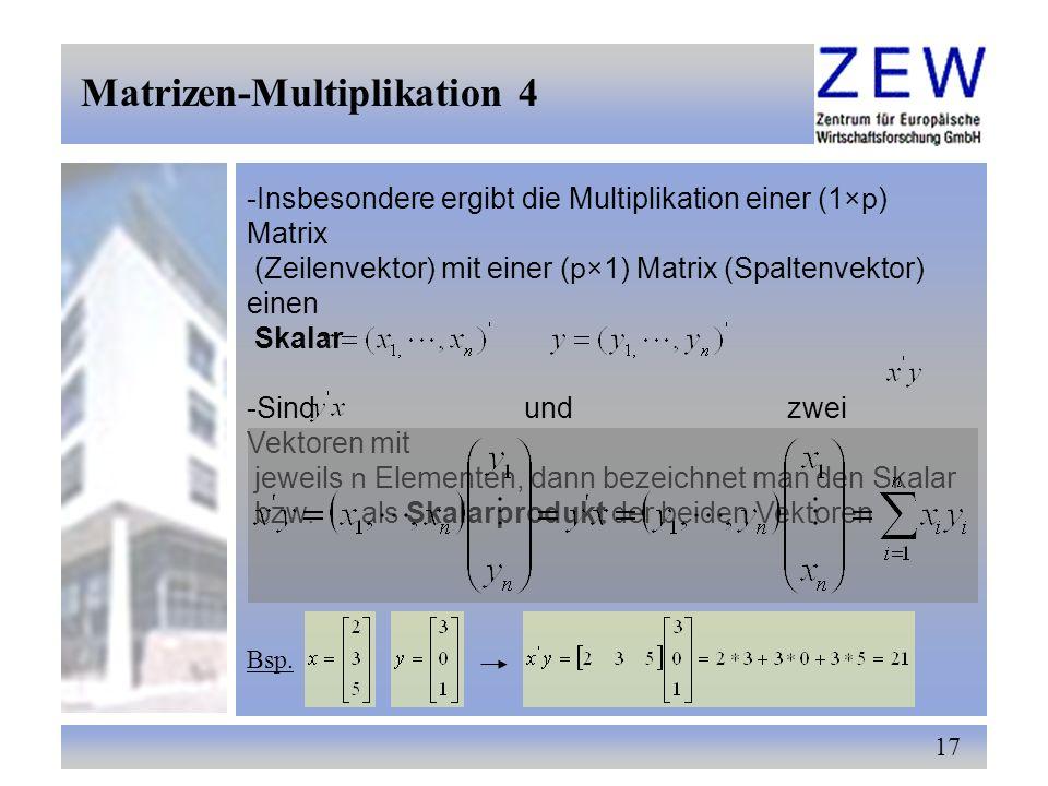 Matrizen-Multiplikation 4