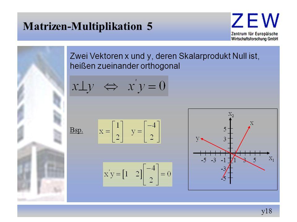 Matrizen-Multiplikation 5