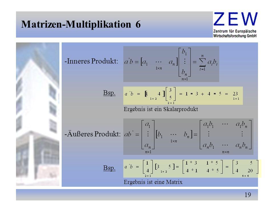 Matrizen-Multiplikation 6