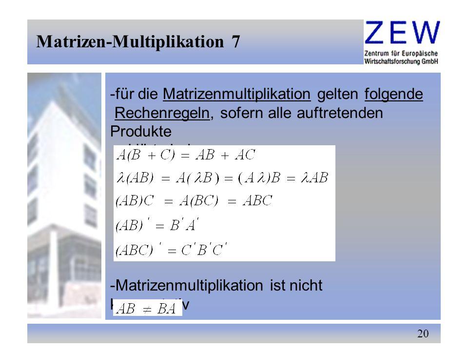 Matrizen-Multiplikation 7