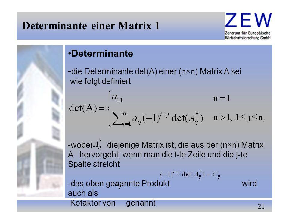 Determinante einer Matrix 1