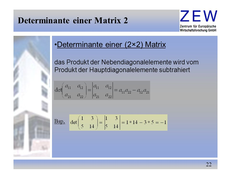 Determinante einer Matrix 2