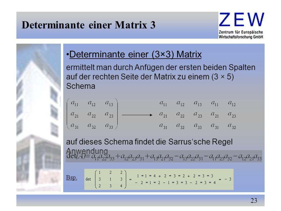 Determinante einer Matrix 3