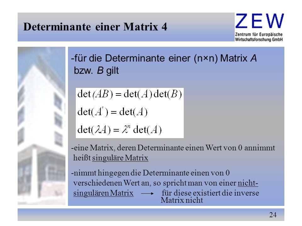Determinante einer Matrix 4