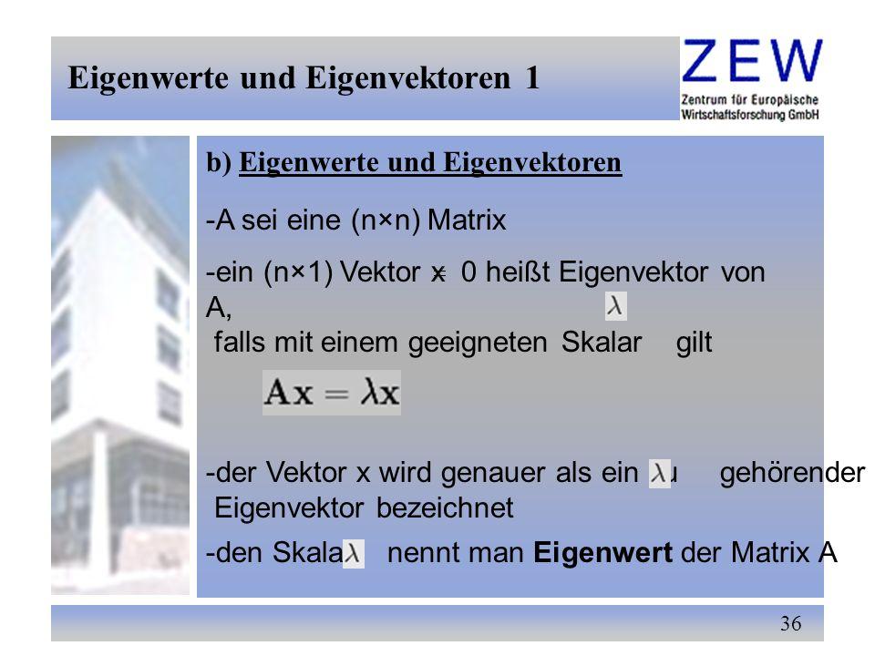 Eigenwerte und Eigenvektoren 1