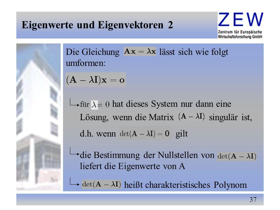 Eigenwerte und Eigenvektoren 2