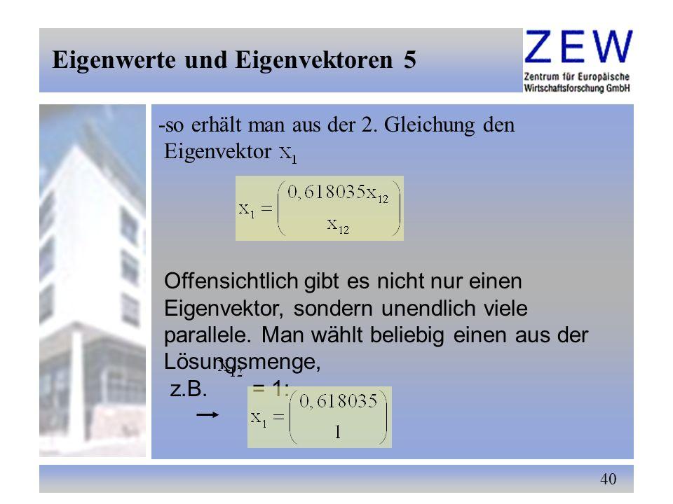 Eigenwerte und Eigenvektoren 5