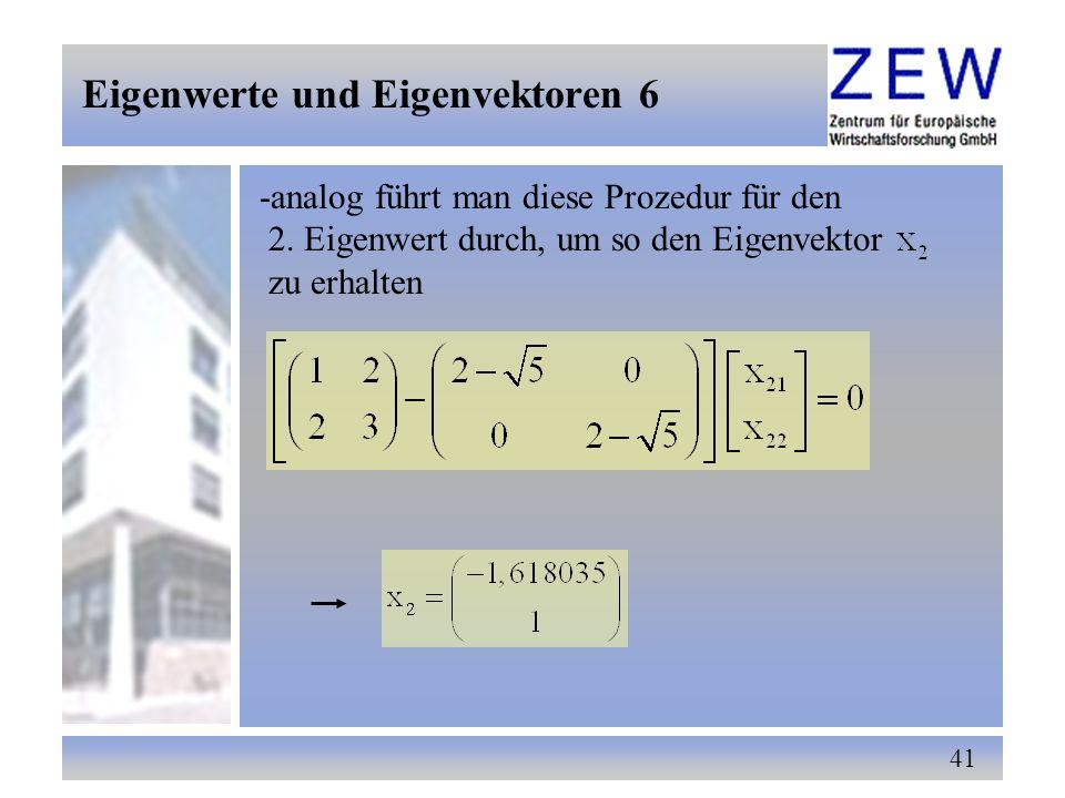 Eigenwerte und Eigenvektoren 6
