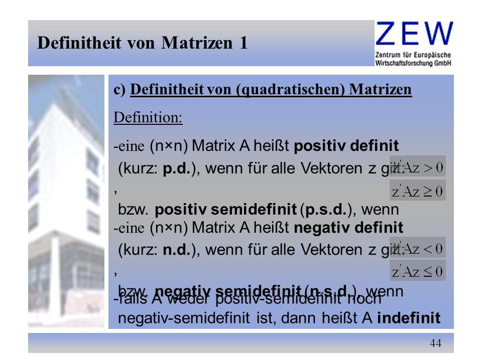 Definitheit von Matrizen 1