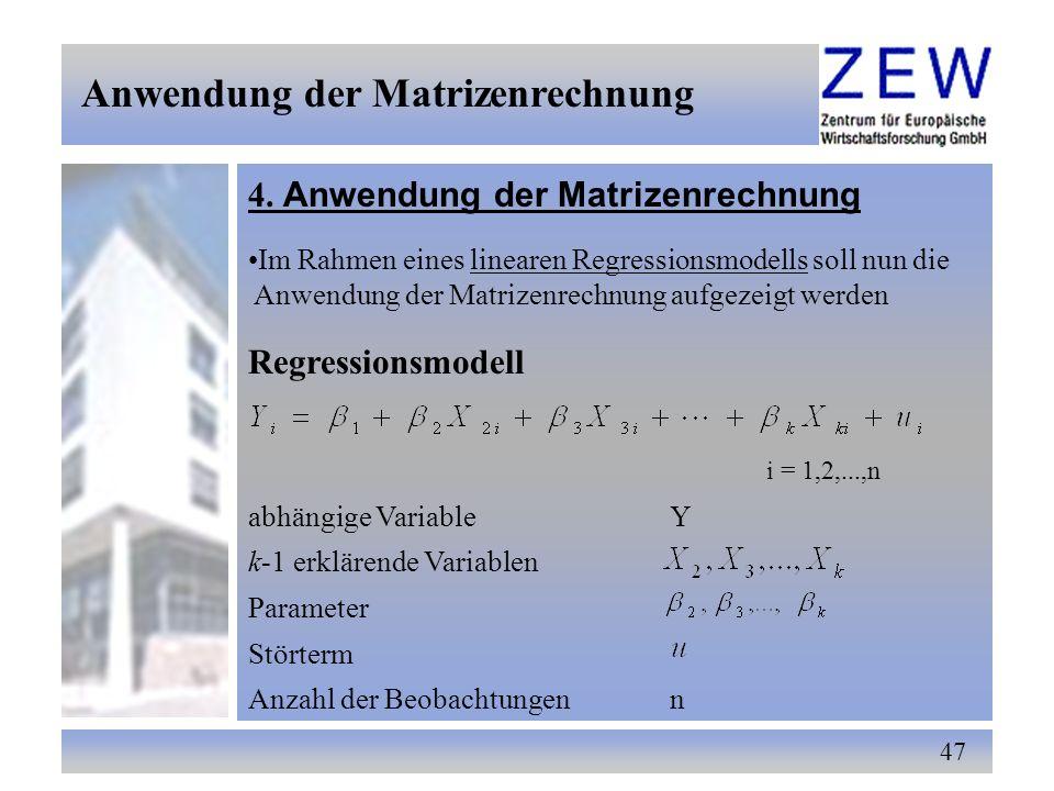 matrix algebra grundlagen 1 matrizen und vektoren ppt. Black Bedroom Furniture Sets. Home Design Ideas