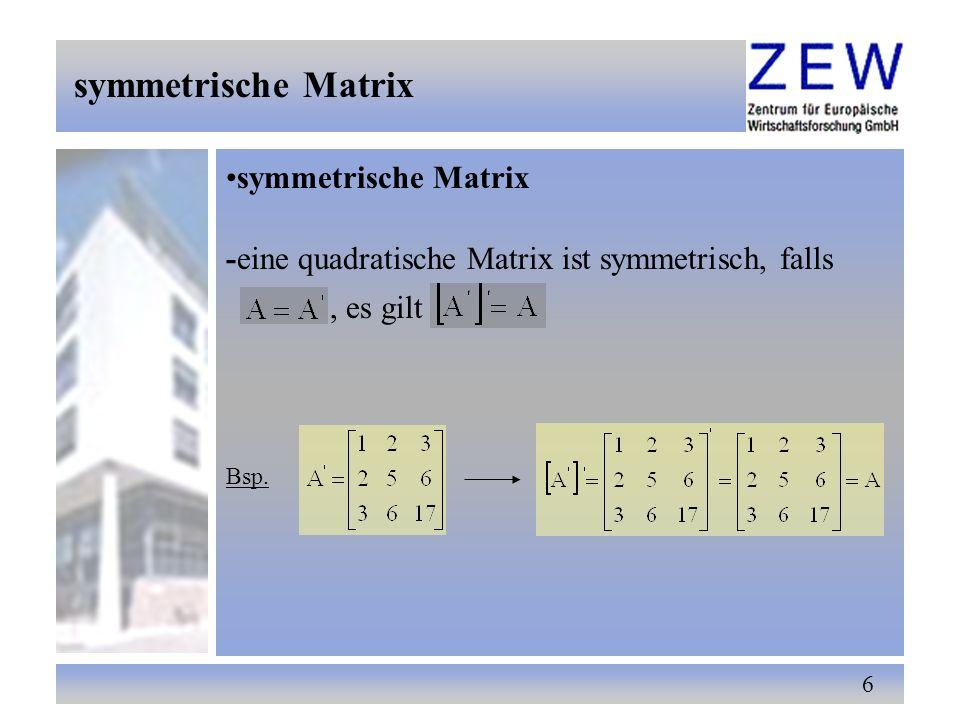 symmetrische Matrix symmetrische Matrix