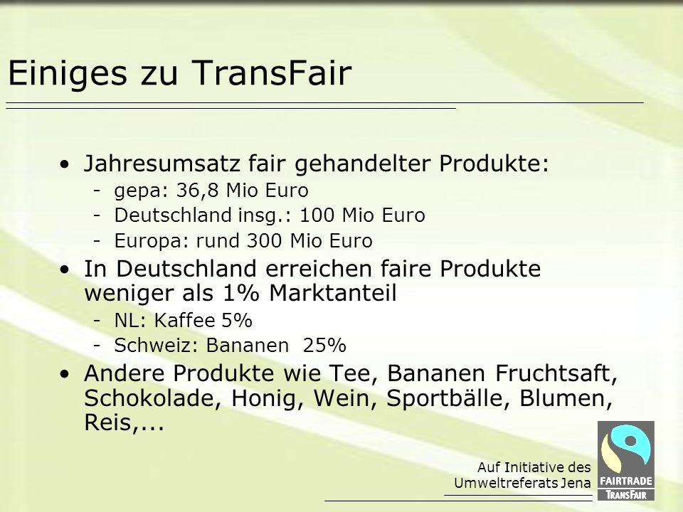 Einiges zu TransFair Jahresumsatz fair gehandelter Produkte: