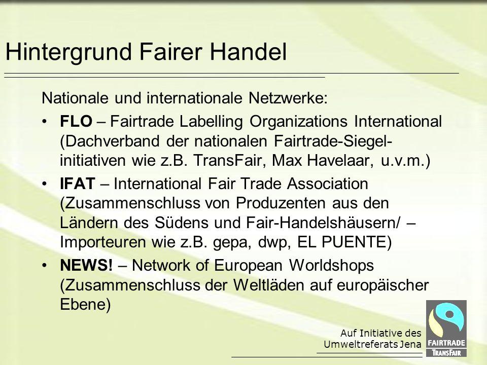 Hintergrund Fairer Handel
