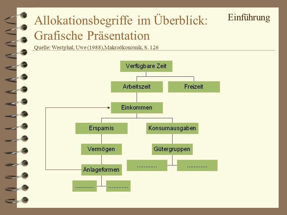Allokationsbegriffe im Überblick: Grafische Präsentation
