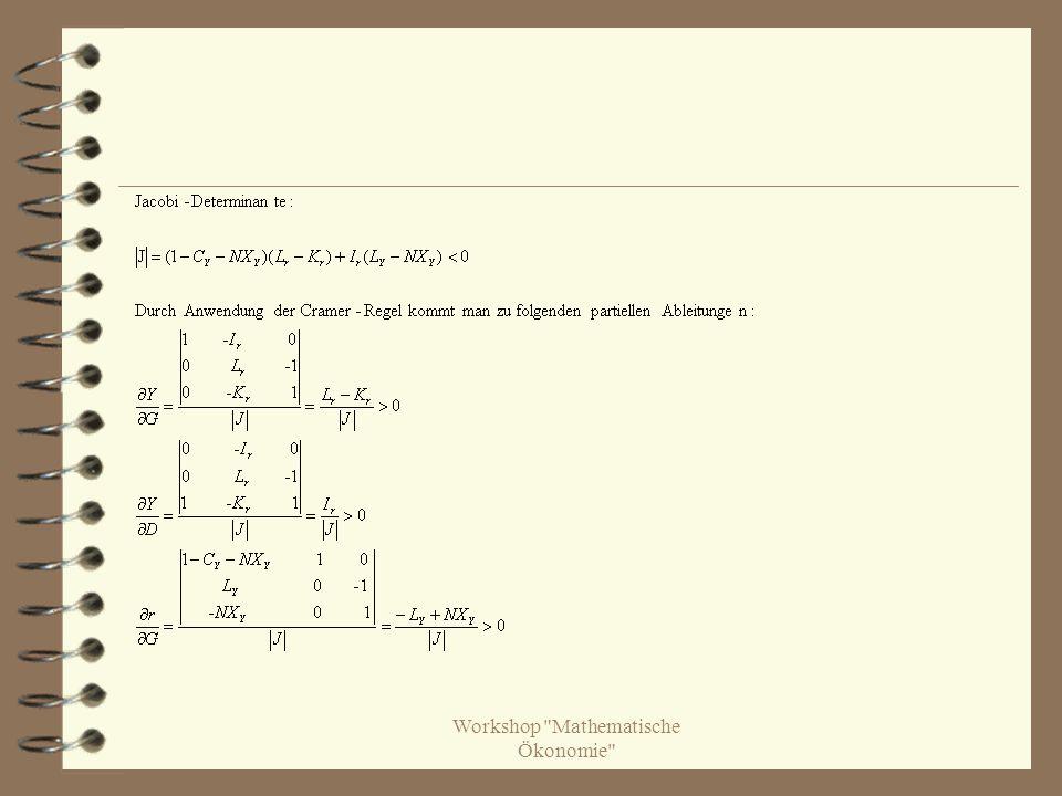 Workshop Mathematische Ökonomie