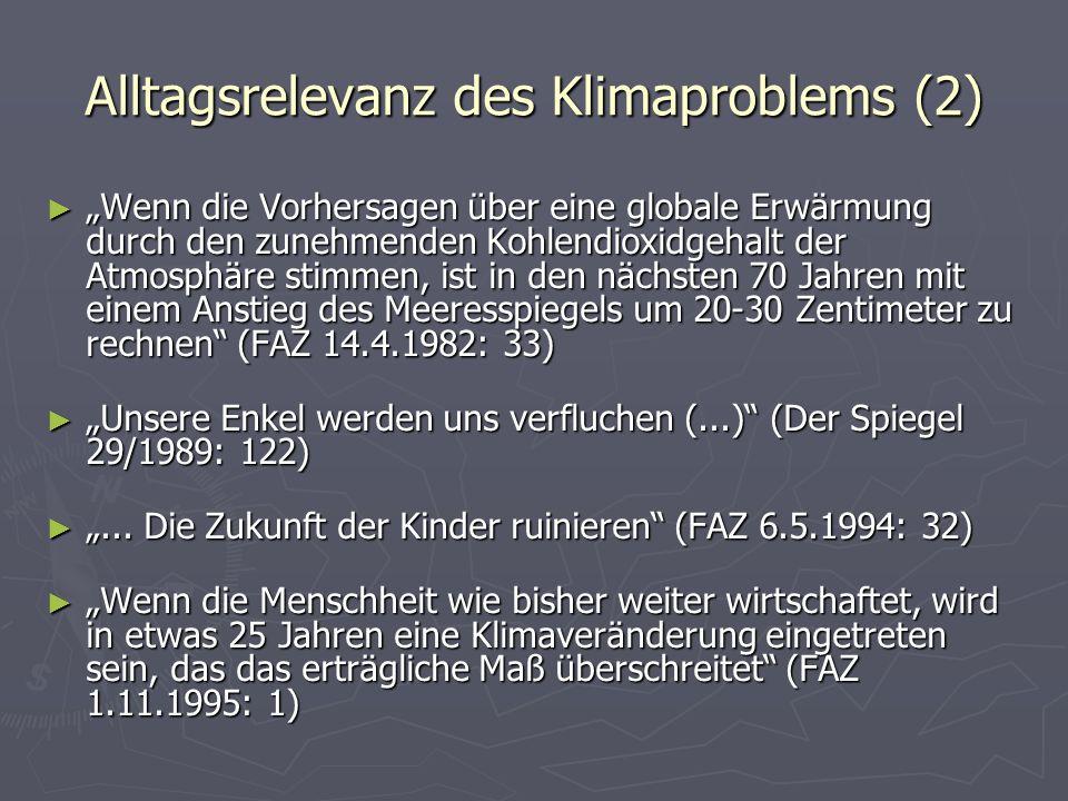 Alltagsrelevanz des Klimaproblems (2)