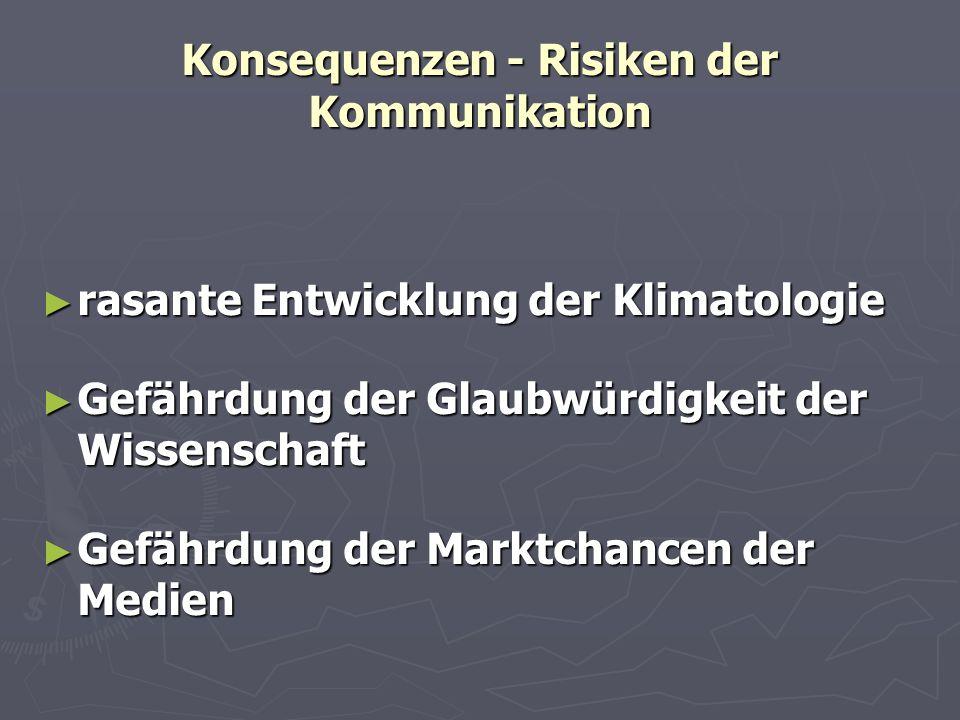 Konsequenzen - Risiken der Kommunikation