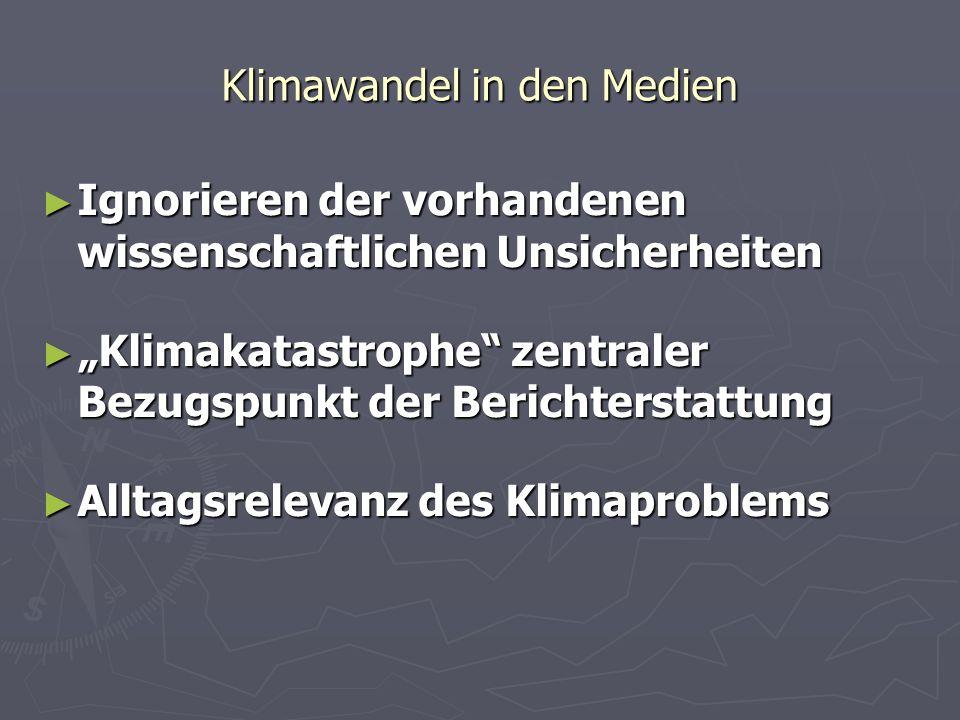 Klimawandel in den Medien