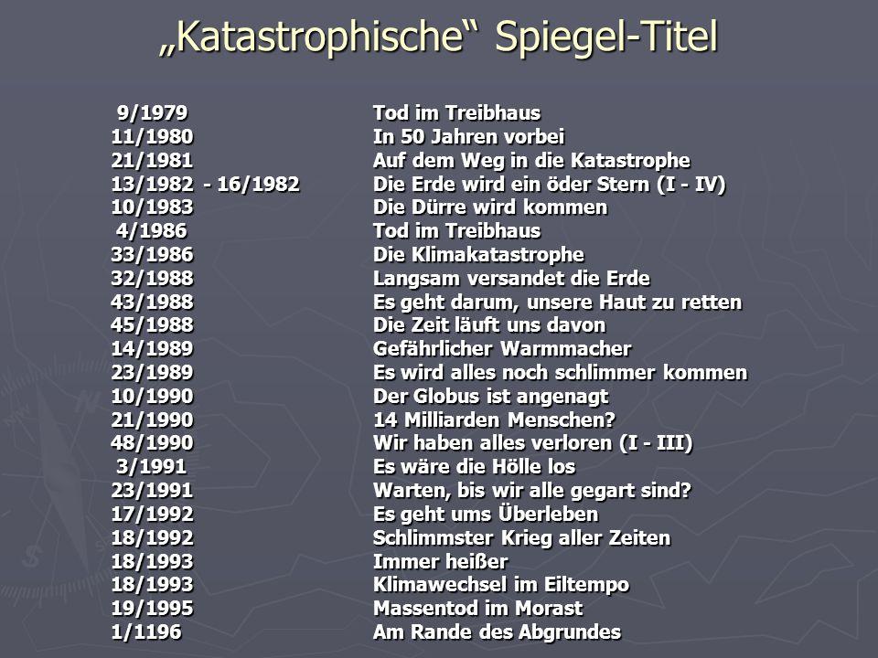 """""""Katastrophische Spiegel-Titel"""