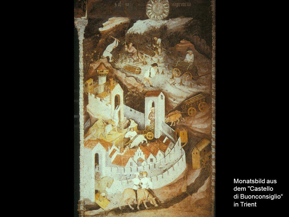 Monatsbild aus dem Castello di Buonconsiglio in Trient