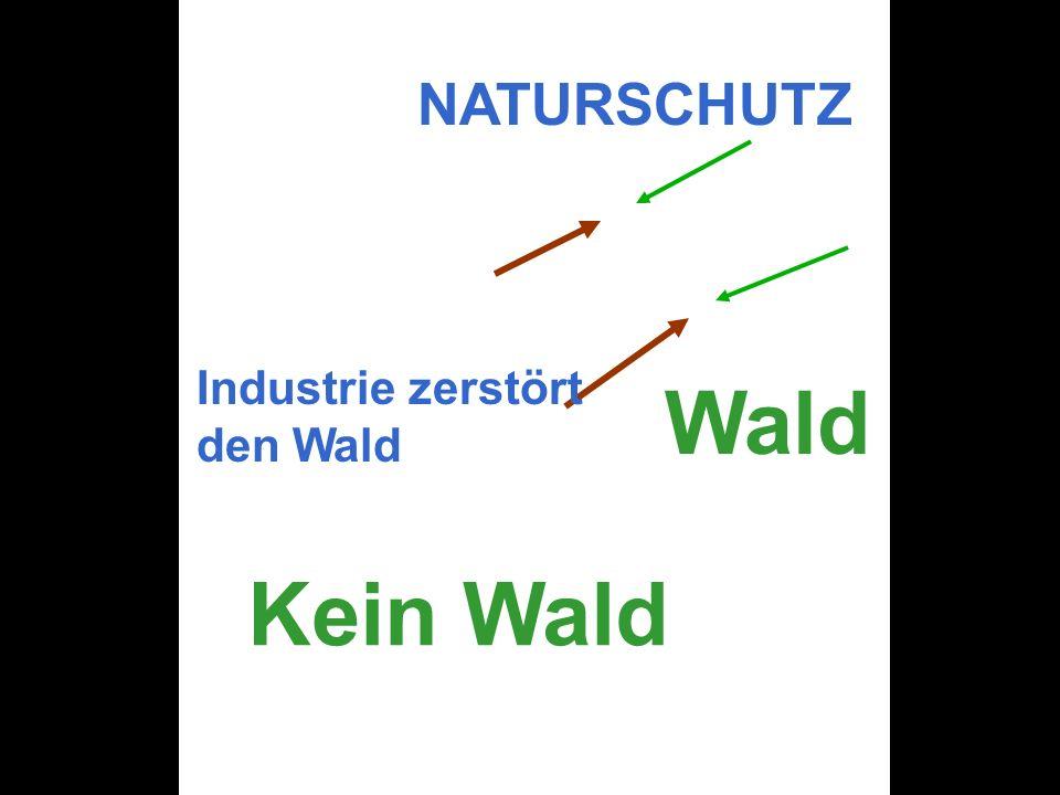 NATURSCHUTZ Industrie zerstört den Wald Wald Kein Wald