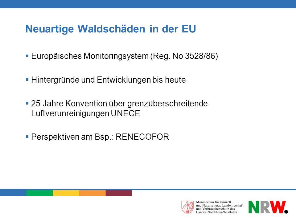 Neuartige Waldschäden in der EU