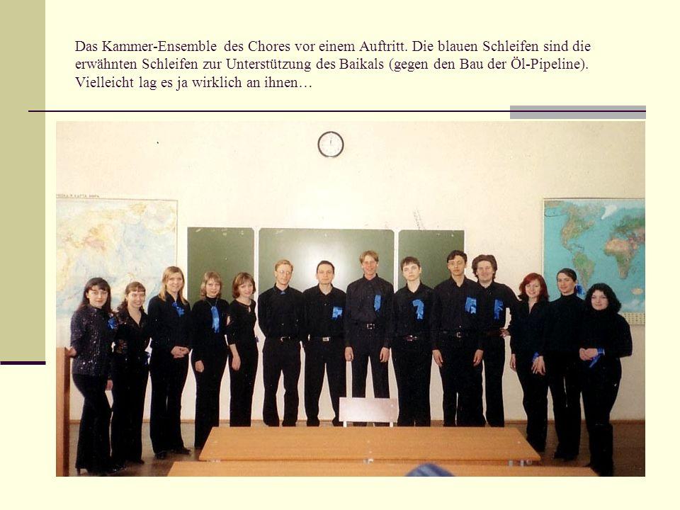 Das Kammer-Ensemble des Chores vor einem Auftritt