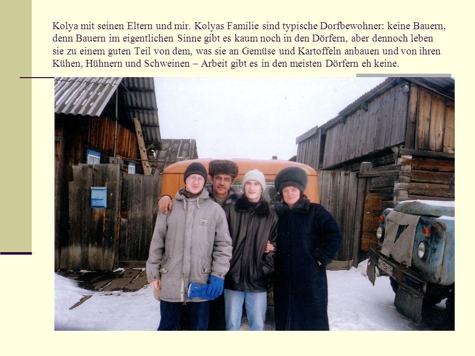Kolya mit seinen Eltern und mir