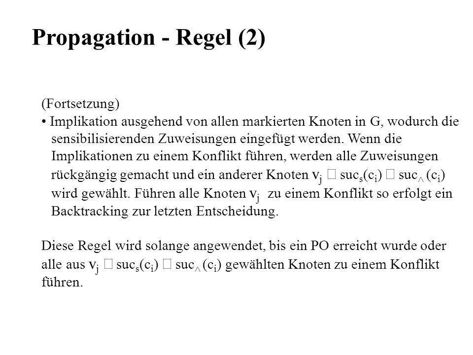 Propagation - Regel (2) (Fortsetzung)