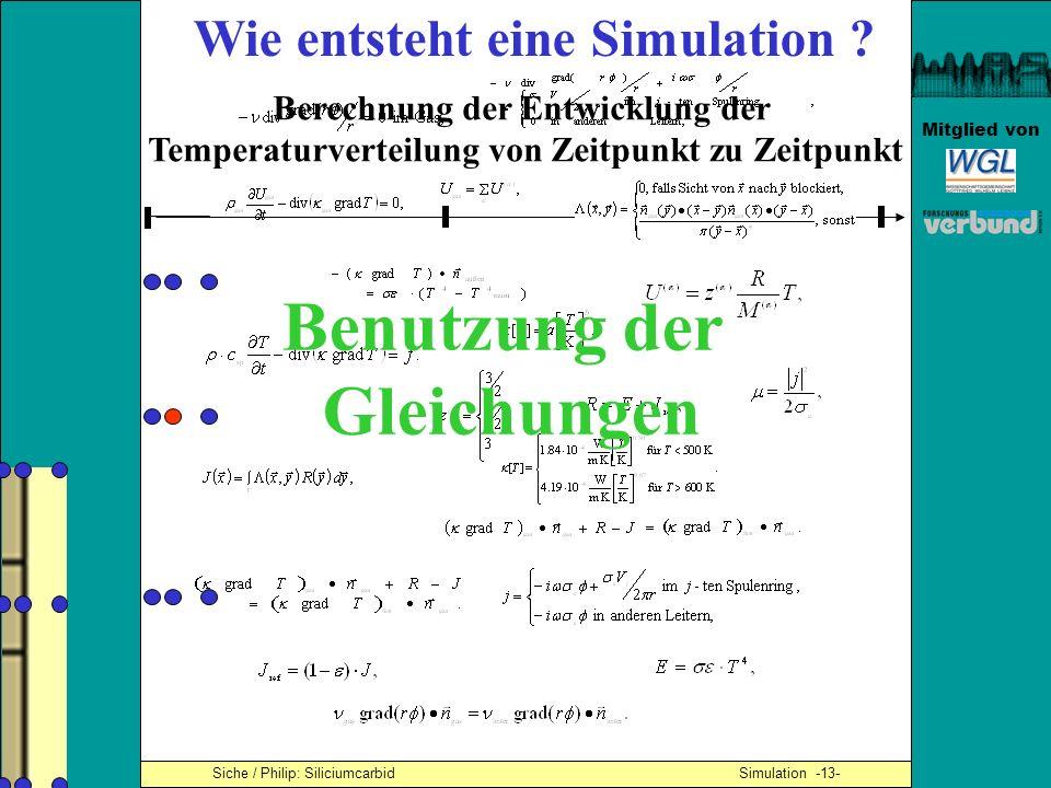 Benutzung der Gleichungen