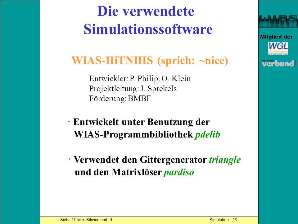 Die verwendete Simulationssoftware