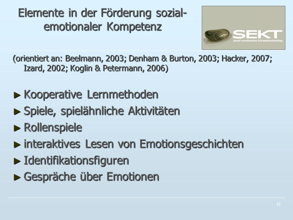 Elemente in der Förderung sozial-emotionaler Kompetenz