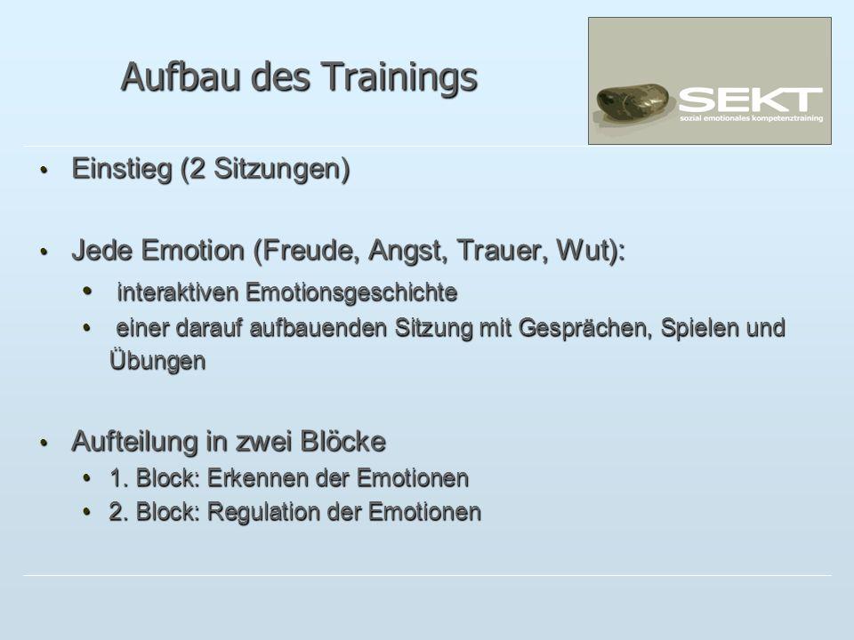 Aufbau des Trainings Einstieg (2 Sitzungen)