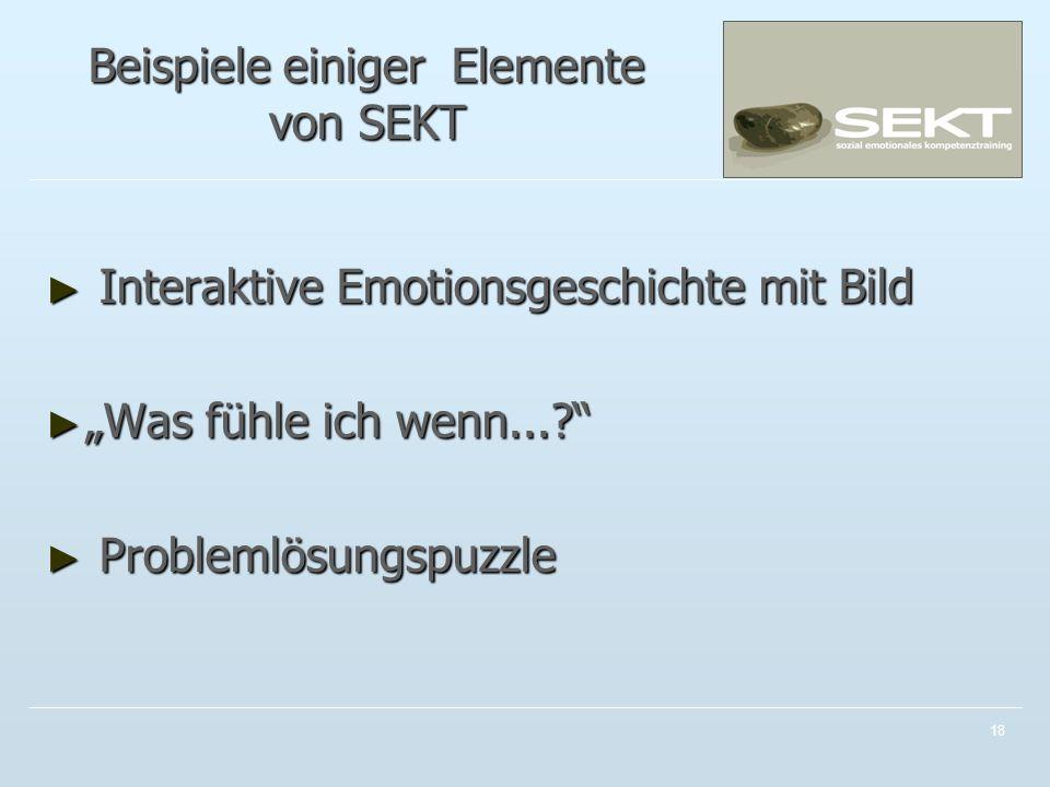 Beispiele einiger Elemente von SEKT
