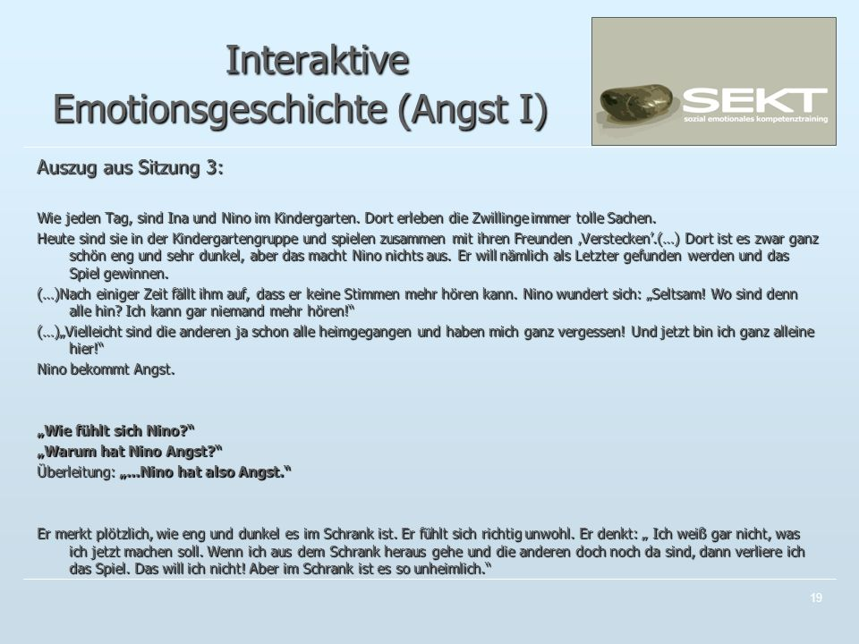 Interaktive Emotionsgeschichte (Angst I)