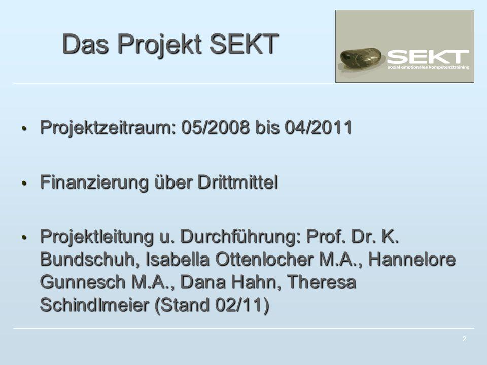 Das Projekt SEKT Projektzeitraum: 05/2008 bis 04/2011