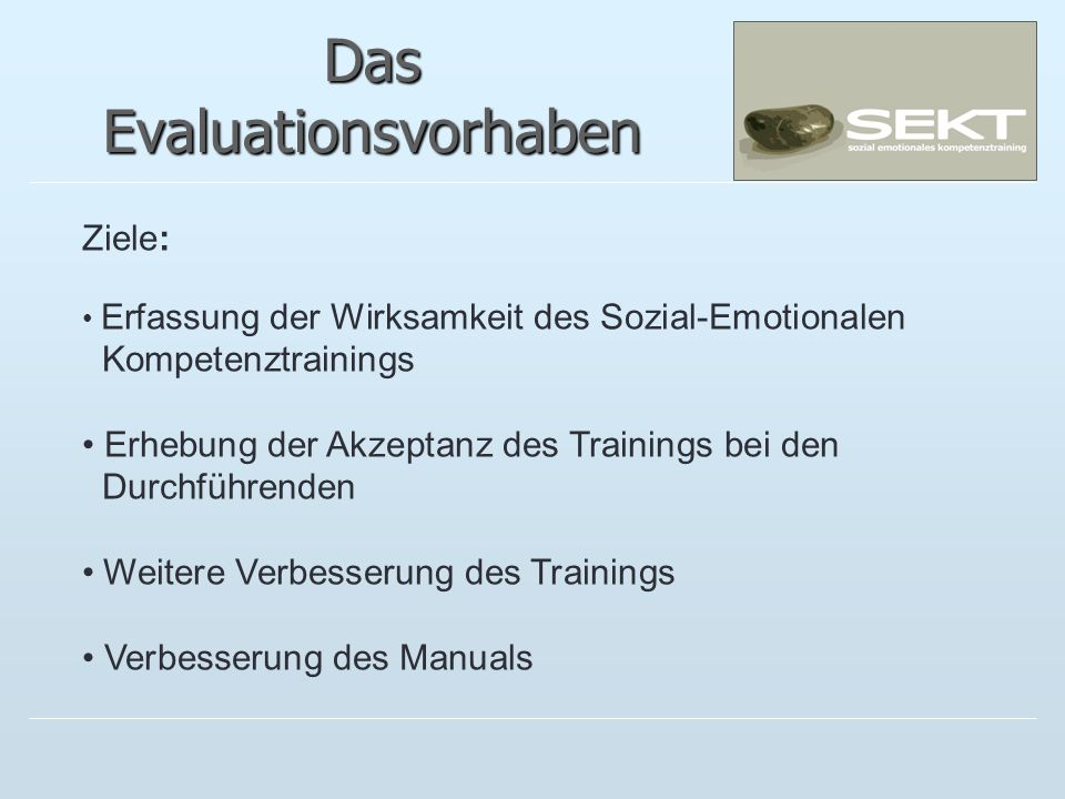 Das Evaluationsvorhaben