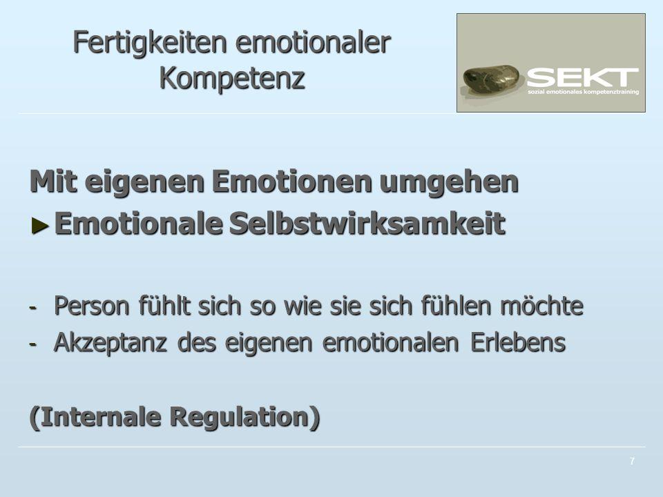 Fertigkeiten emotionaler Kompetenz