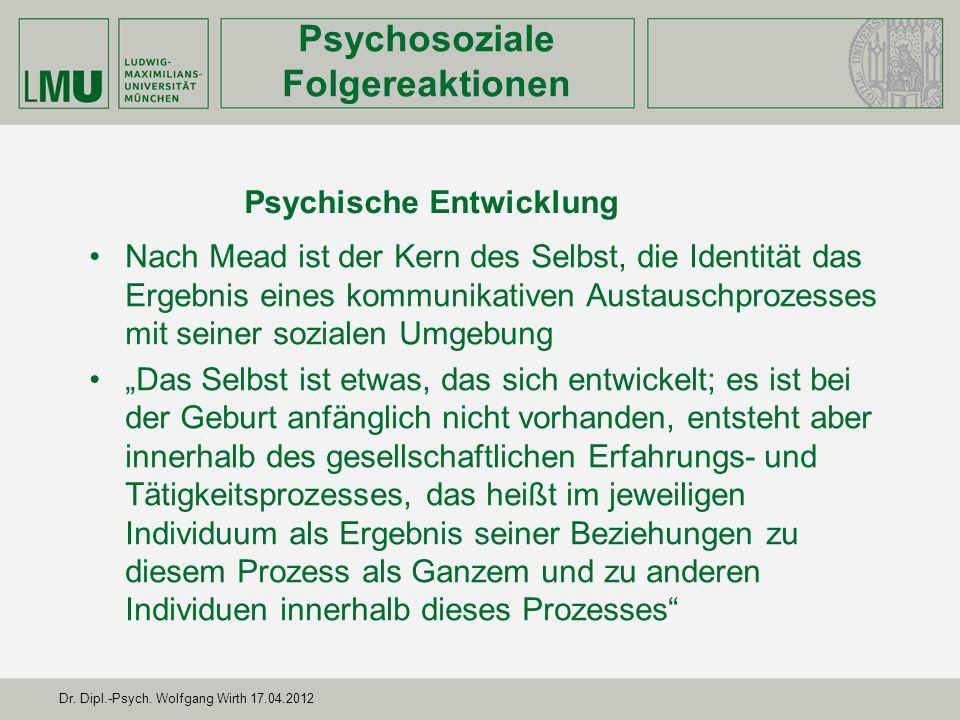 Psychosoziale Folgereaktionen Psychische Entwicklung