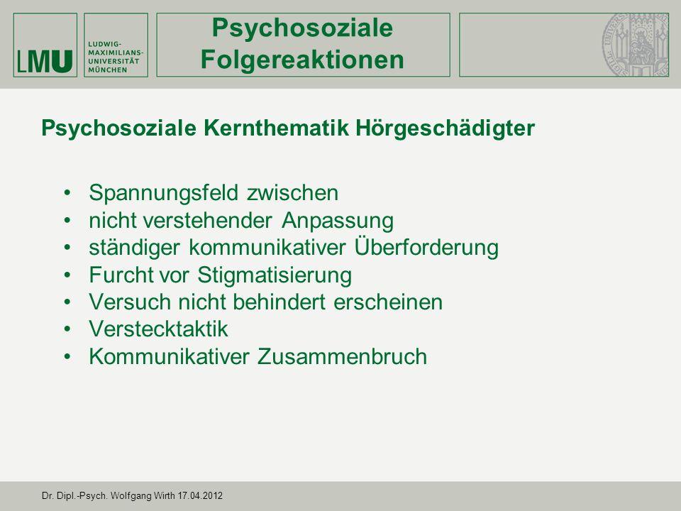 Psychosoziale Kernthematik Hörgeschädigter