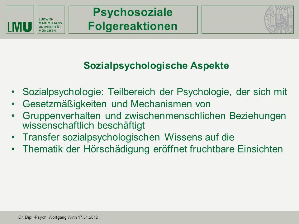Sozialpsychologische Aspekte