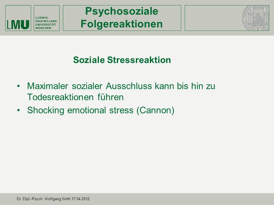Soziale Stressreaktion