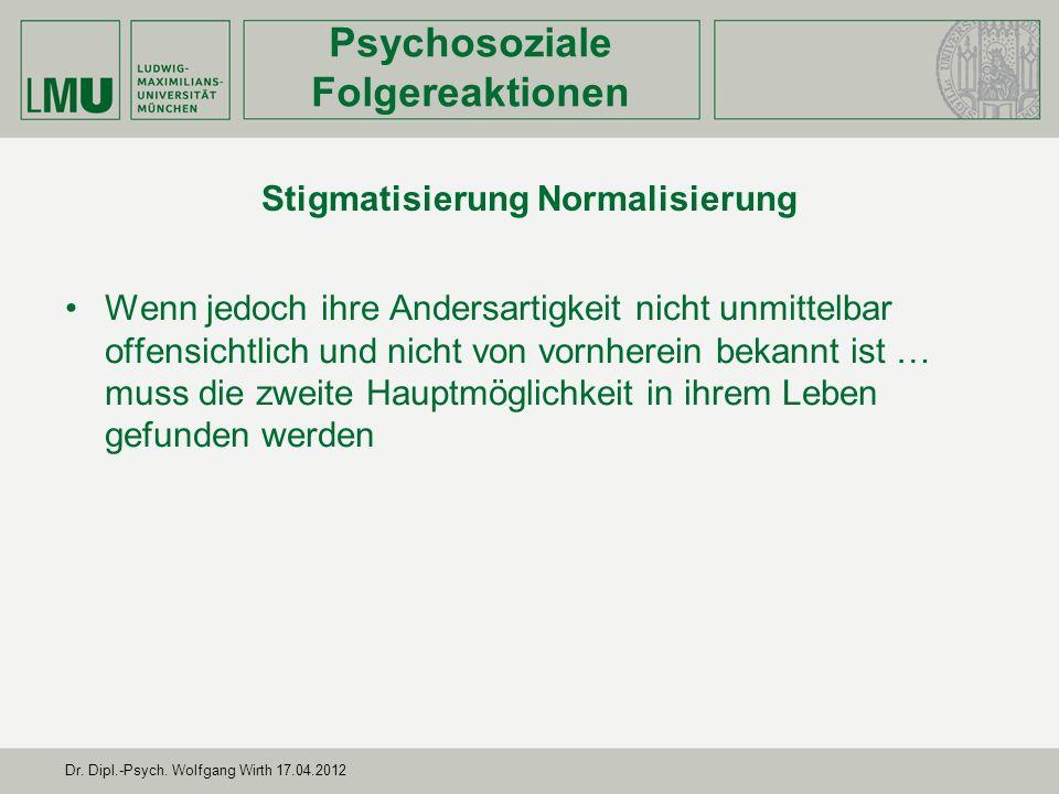 Stigmatisierung Normalisierung