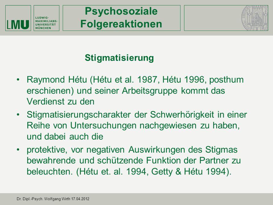 Psychosoziale Folgereaktionen