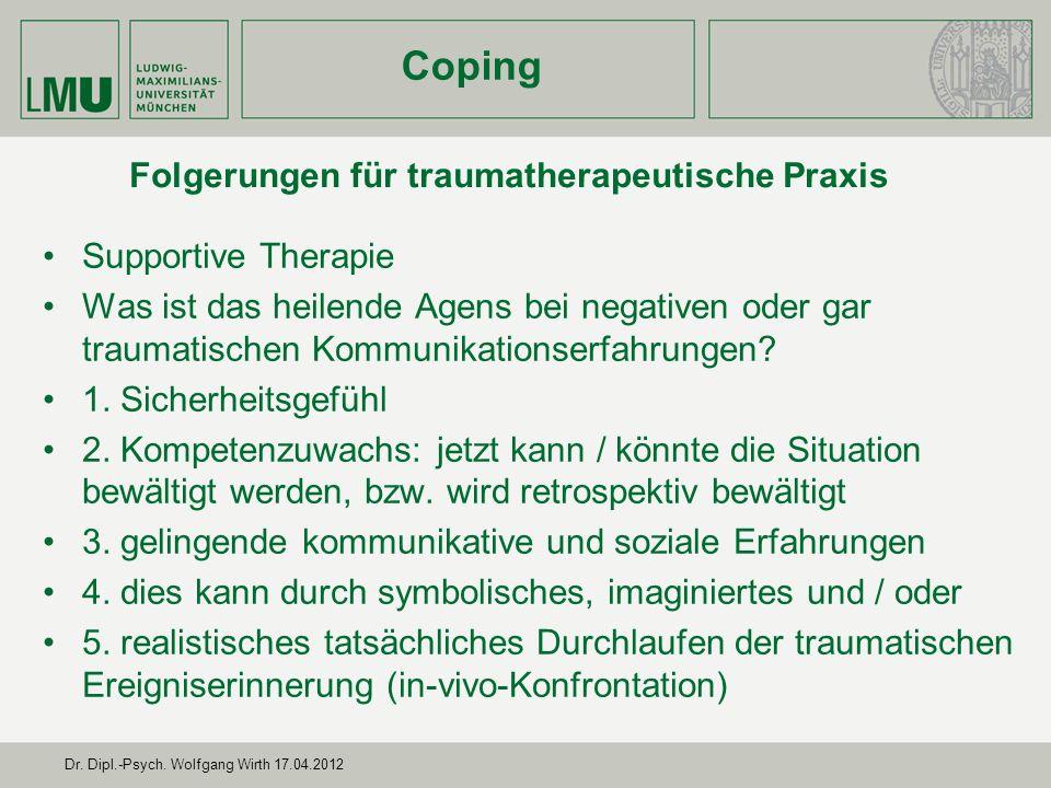 Folgerungen für traumatherapeutische Praxis