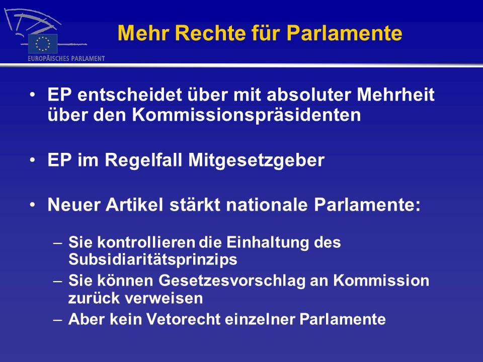 Mehr Rechte für Parlamente